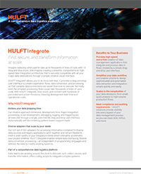 Enterprise Integration with HULFT Integrate Data Logistics Data Sheet | Influential